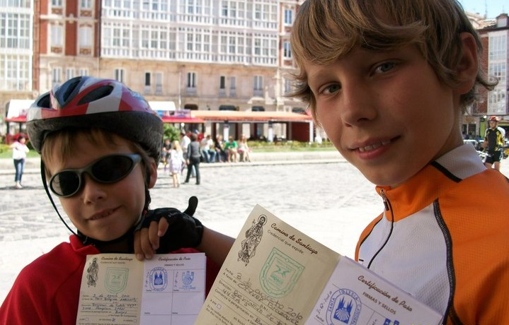camino de santiago with kids by bike